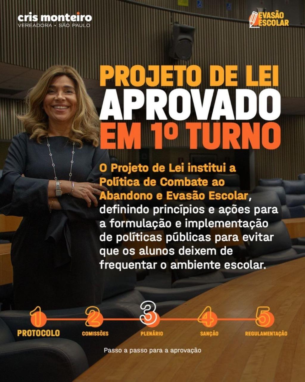 Projeto de Lei que combate a Evasão Escolar em SP foi aprovado em primeira votação